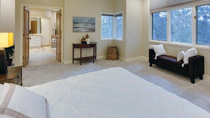 owner's suite with door